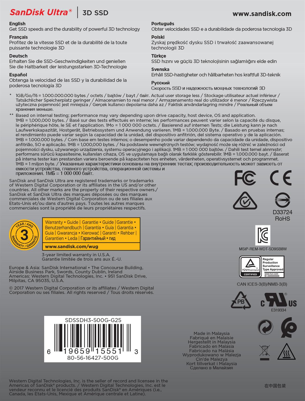 SanDisk Ultra 3D 500GB