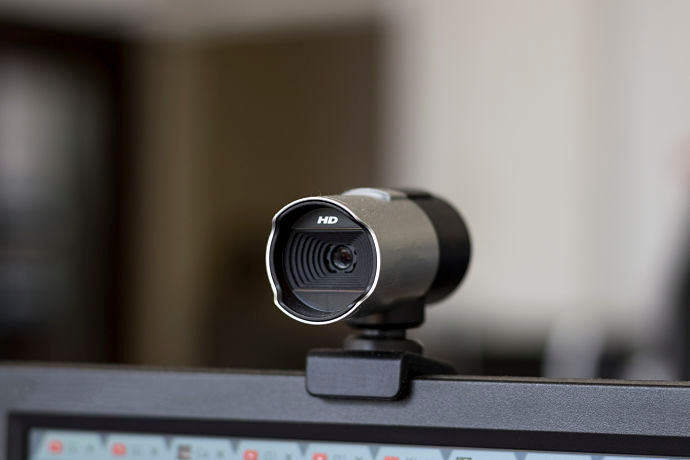 webcam con morsetto