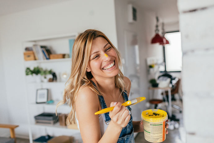 pitturare le pareti di casa