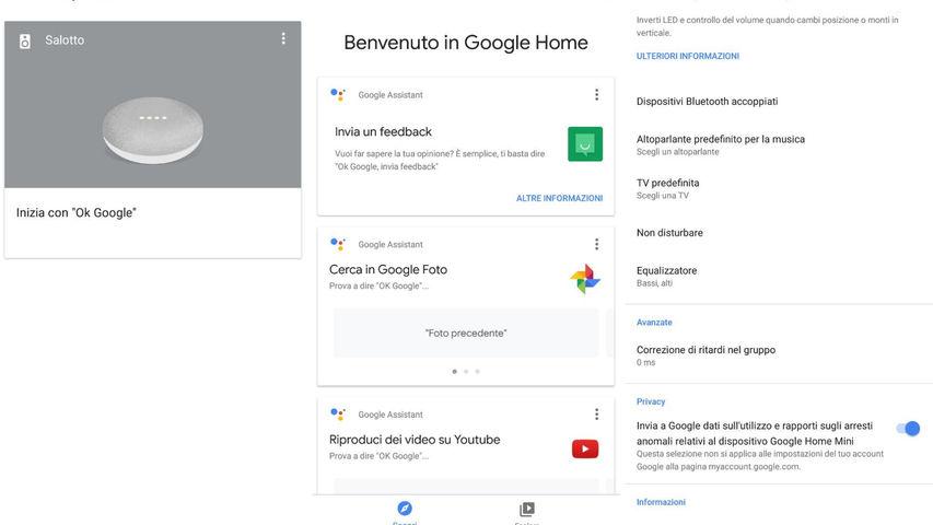 Google Home istruzioni