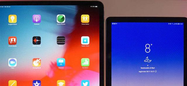 iPad Pro contro Galaxy Tab S4