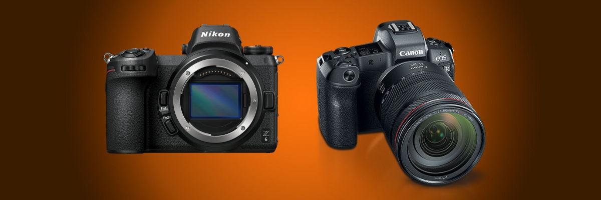 Canon EOS R Nikon Z6 Z7
