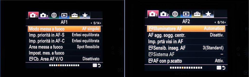 Menu Sony A7 III