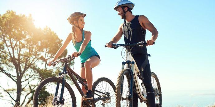 bicicletta da donna e bicicletta da uomo