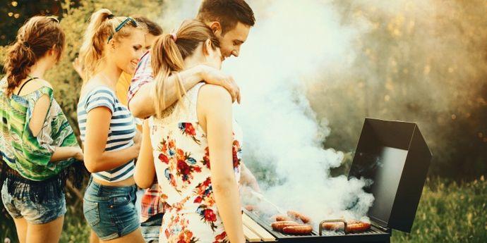 barbecue con amici