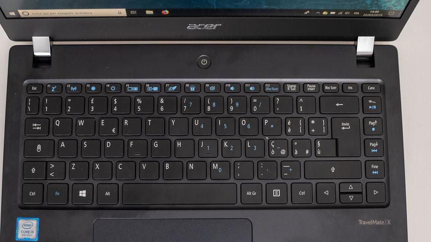 Acer TravelMate X3 tastiera