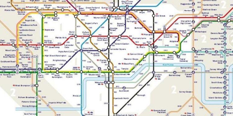 Mappa Metro Londra cellulare tracciati