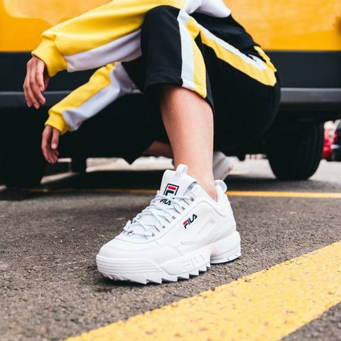 Fila disruptor low bianche outfit