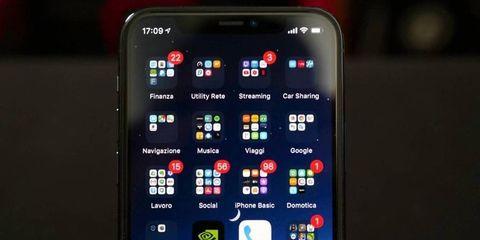 iPhone 11 Pro display e icone