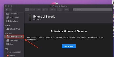 Fare backup iOS