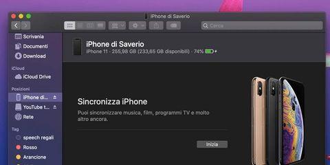 Sincronizzare iPhone