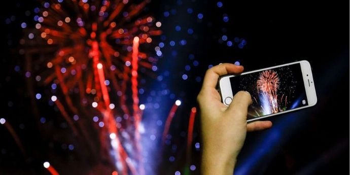 Fotografare fuochi d'artificio