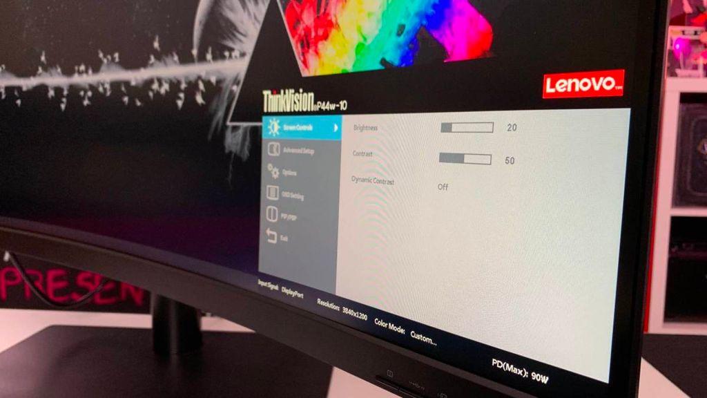 OSD Lenovo ThinkVision P44w-10