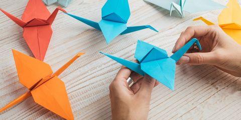 come piegare un origami