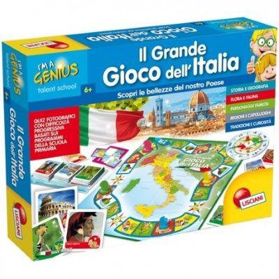 GIOCO DIDATTICO MEMORY ITALY LISCIANI I/'M A GENIUS 100 TESSERE