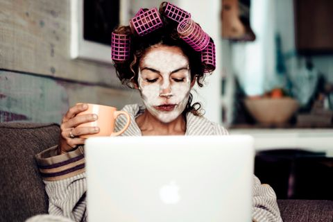 smart working e beauty routine