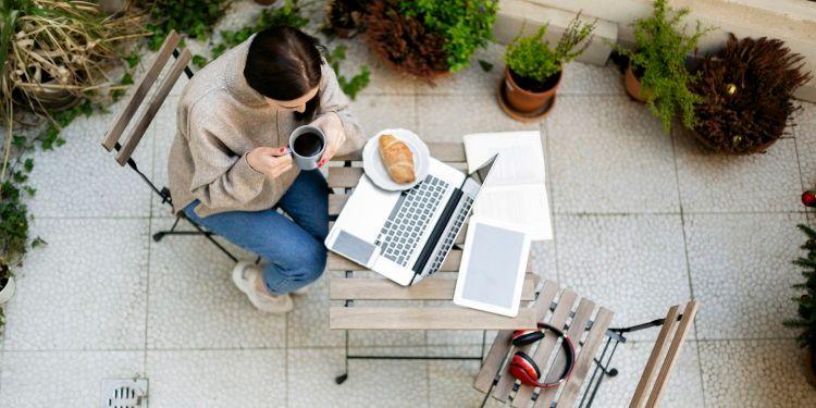 come creare ufficio sul terrazzo
