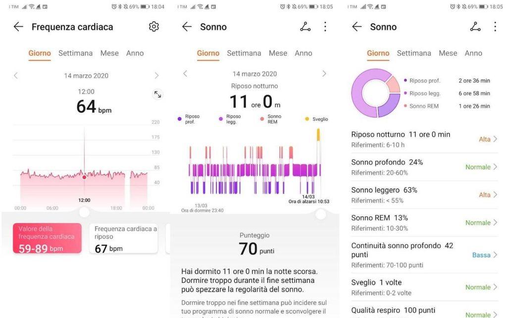 Huawei Band4 Pro Sonno