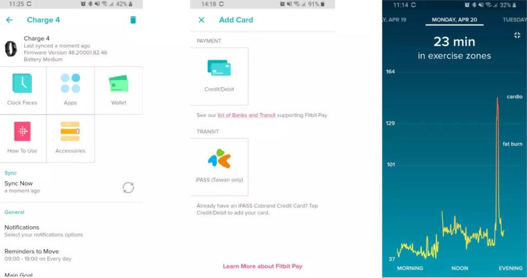 Applicazione Fitbit Charge 4