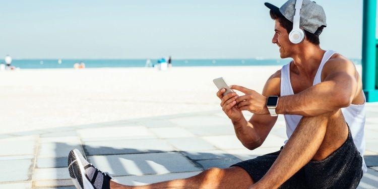 tecnologia in spiaggia