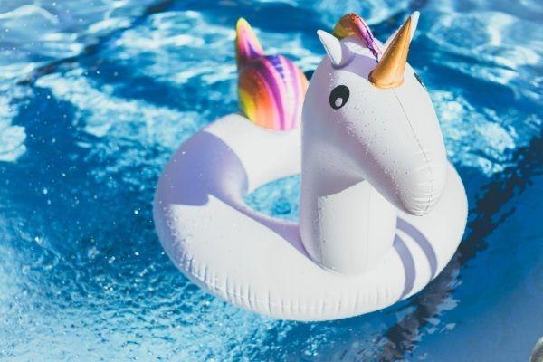 gonfiabile unicorno