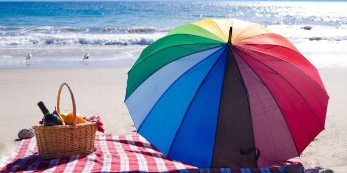 Picnic di ferragosto in spiaggia
