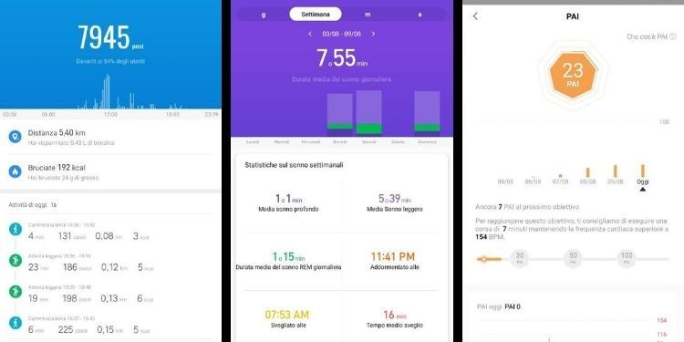 activity Xiaomi Mi Smart Band 5
