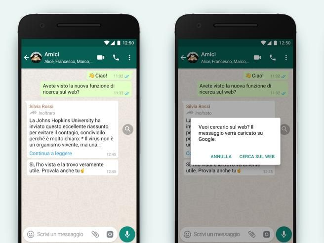 whatsapp contro le fake news