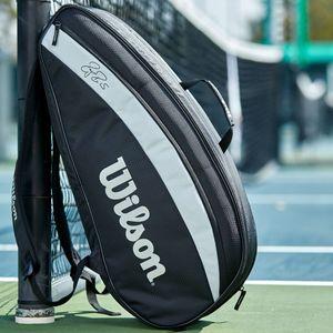 wilson-federer-team-x-6-borsa-da-tennis-black