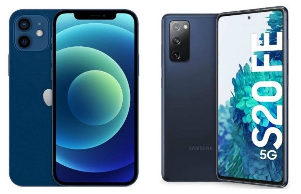 iphone 12 vs galaxy S20 FE