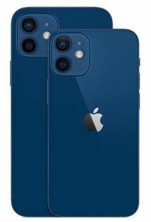 Dimensioni di iPhone 12 e Mini a confronto.