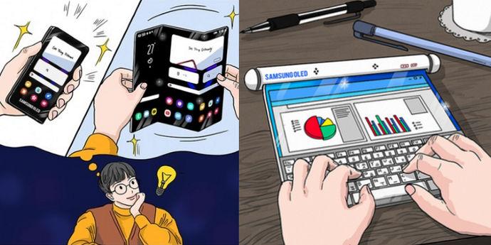 samsung smartphone arrotolabile