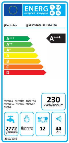 Etichetta energetica lavastoviglie Electrolux KESC5300L