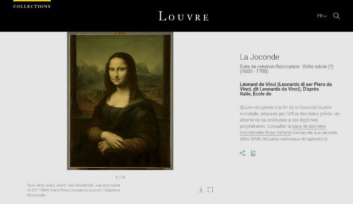 La Gioconda Louvre Online