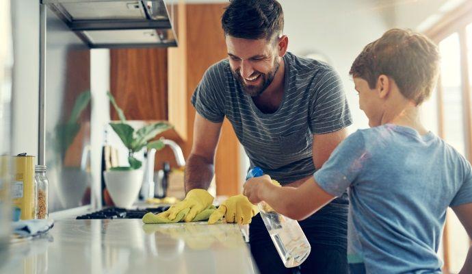 pulizie in cucina