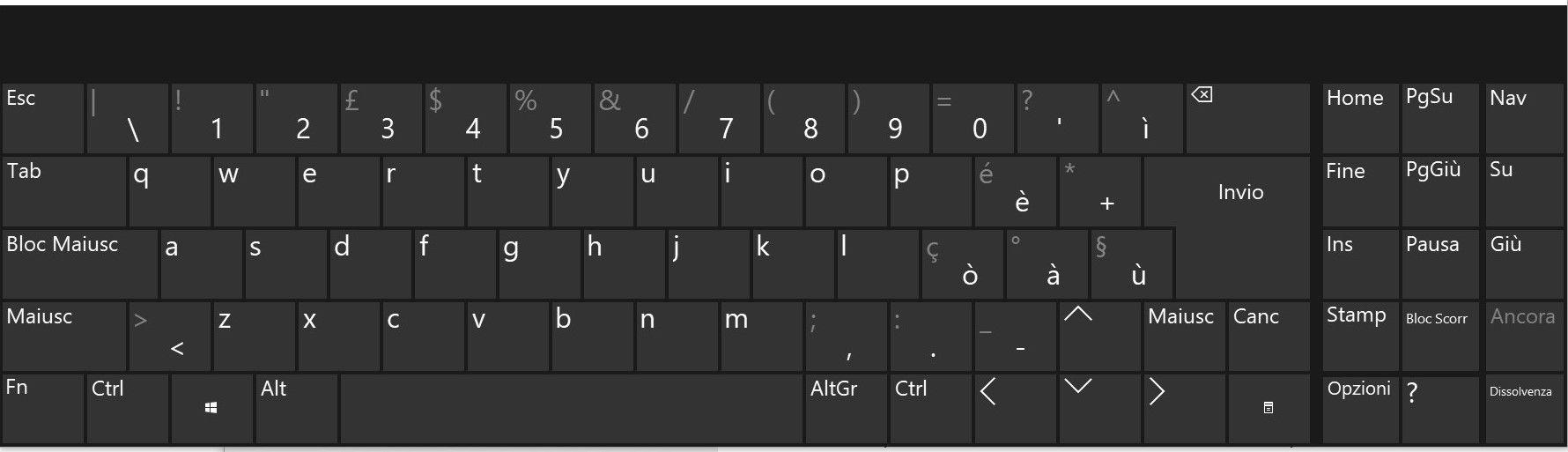 Tastiera Windows