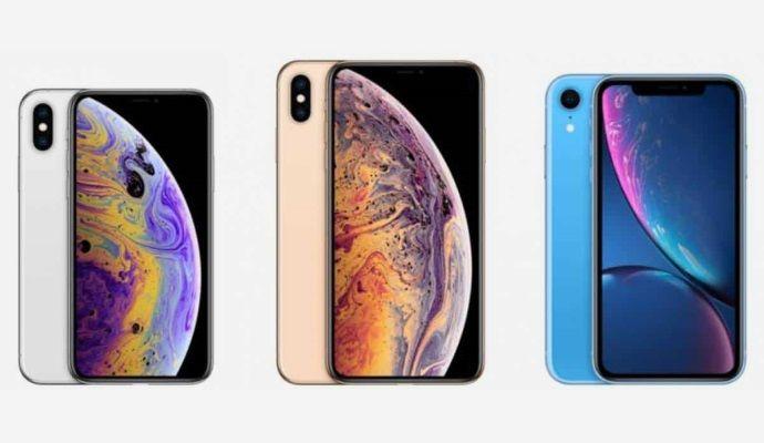 iPhone XR iPhone XS e iPhone XS Max