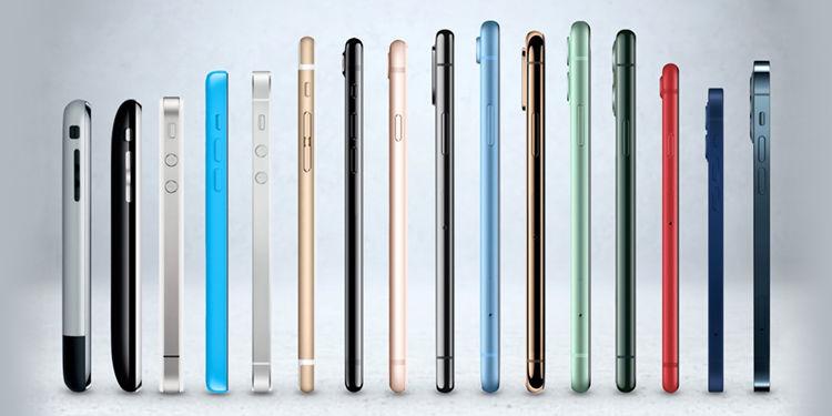 evoluzione degli iphone