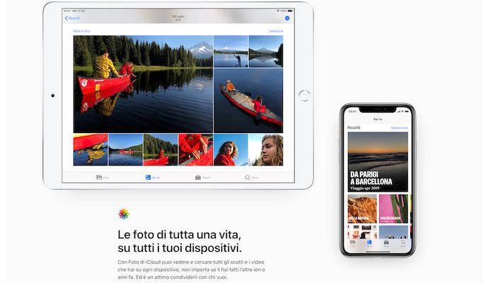Apple iCloud foto iphone