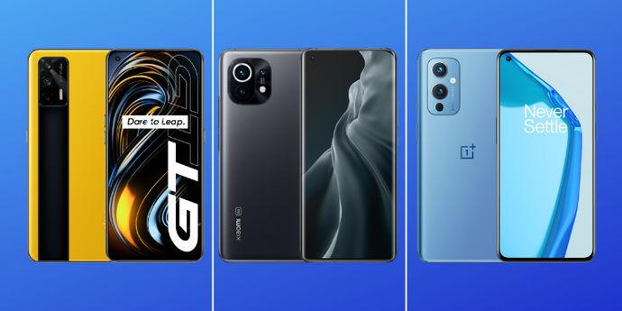 Realme GT 5G vs Mi 11 vs OnePlus 9