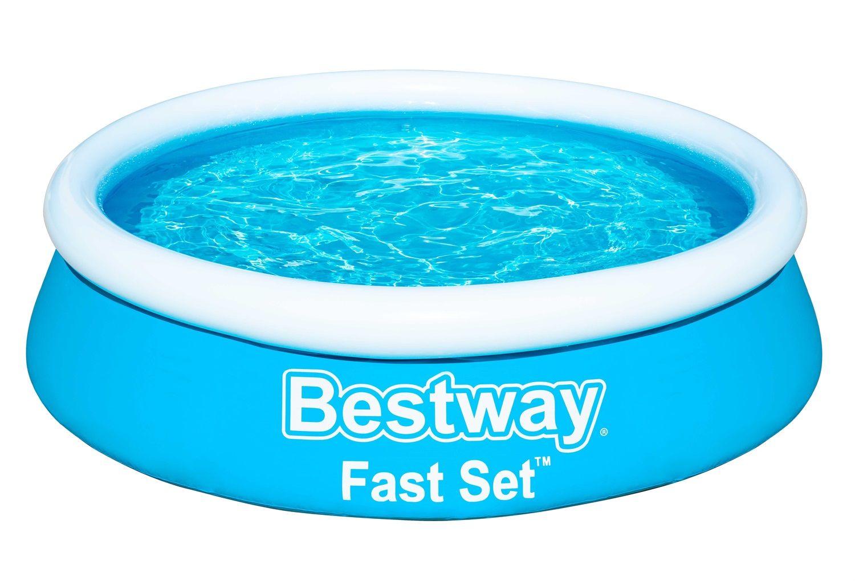 BESTWAY Fast Set Pool Piscina Rotonda con Pompa Filtro COVER 305x76cm NUOVO!!!