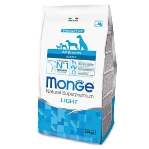 Monge Natural Superpremium All Breeds Adult Light (Salmone Riso) - secco