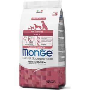 Monge Natural Superpremium All Breeds Adult (Manzo Riso) - secco