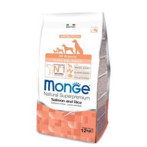 Monge Natural Superpremium Puppy & Junior Cani (Salmone Riso) - secco