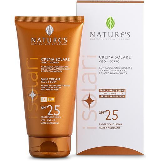 Nature's Crema Solare Viso e Corpo SPF25