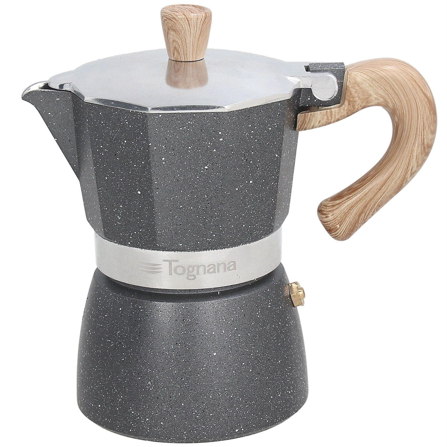 Tognana Stone&Wood caffettiera grigio marmorizzato