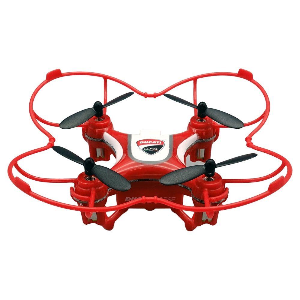 Dromocopter Ducati corse 4rotori 120mah rosso drone fotocamera