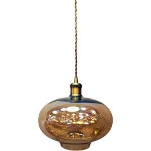 V-TAC Lampadario portalampada vetro ambra con vt-7290 e27 3741