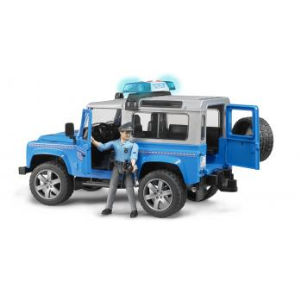 Bruder Land rover defender station wagon polizia 2597 poliziotto