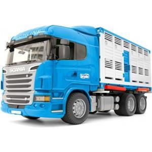 Bruder Camion trasporto bestiame con scania r 3549